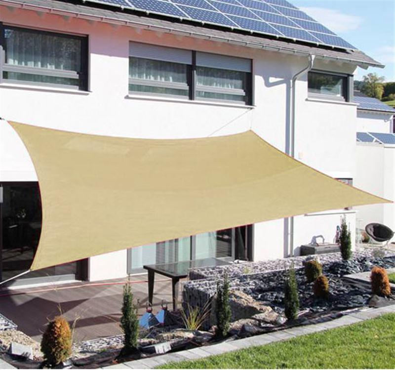 Aosom | Outsunny 20u0027x16u0027 Outdoor Patio Sun Shade Sail   Sand