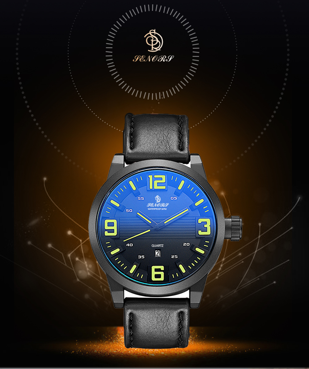 Custom Greeting Card Men Business Casual Watch For Males Black Leather Strap Wristwatch Quartz Watch Relojes Casual Hombres Internet Celebrity