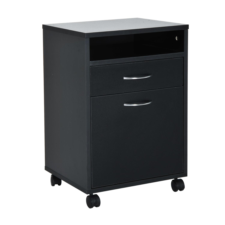 "HomCom 24"" Mobile Printer Stand / Office Storage Cabinet"