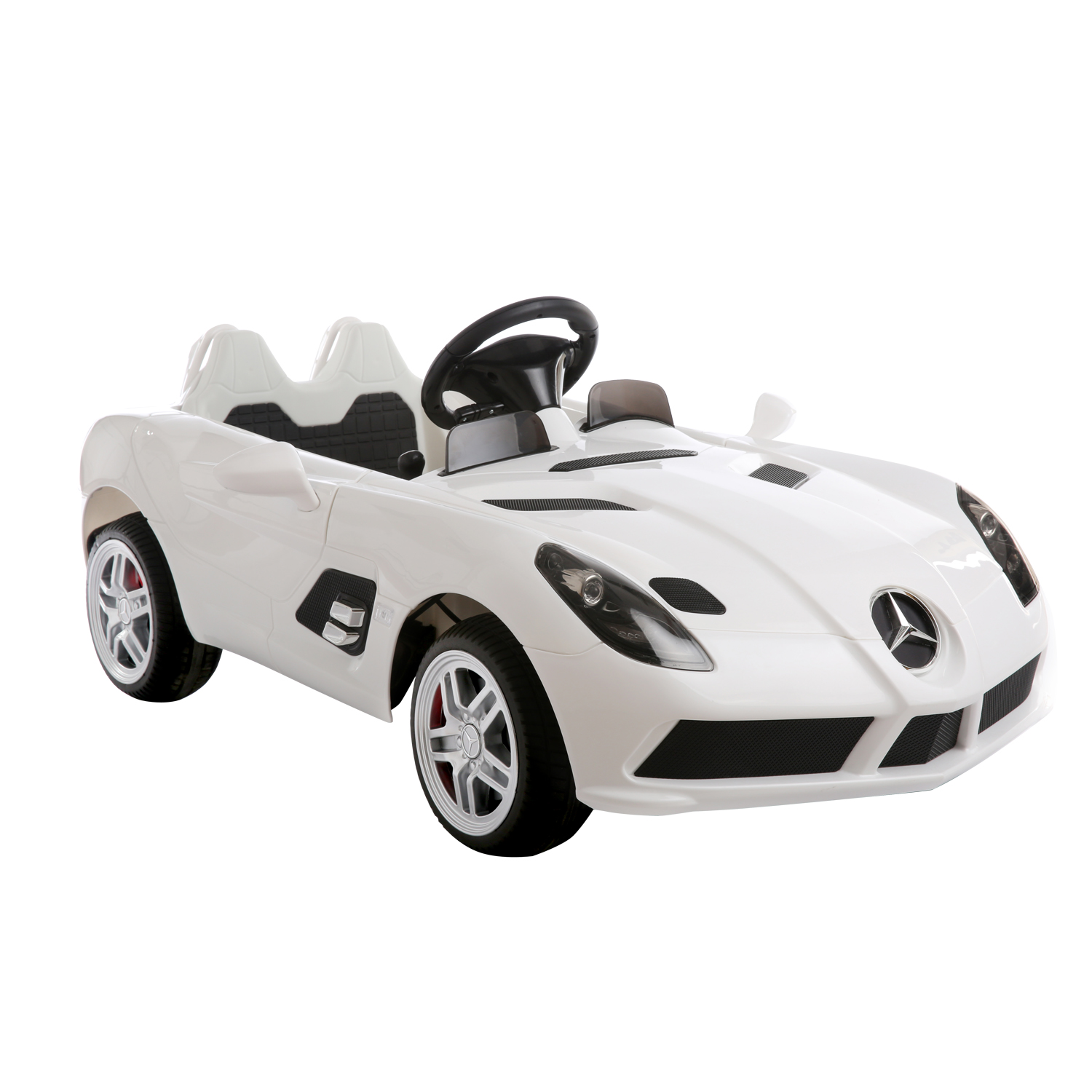 aosom aosom 12v mercedes benz slr mclaren ride on car with mp3 and remote control white ride on cars