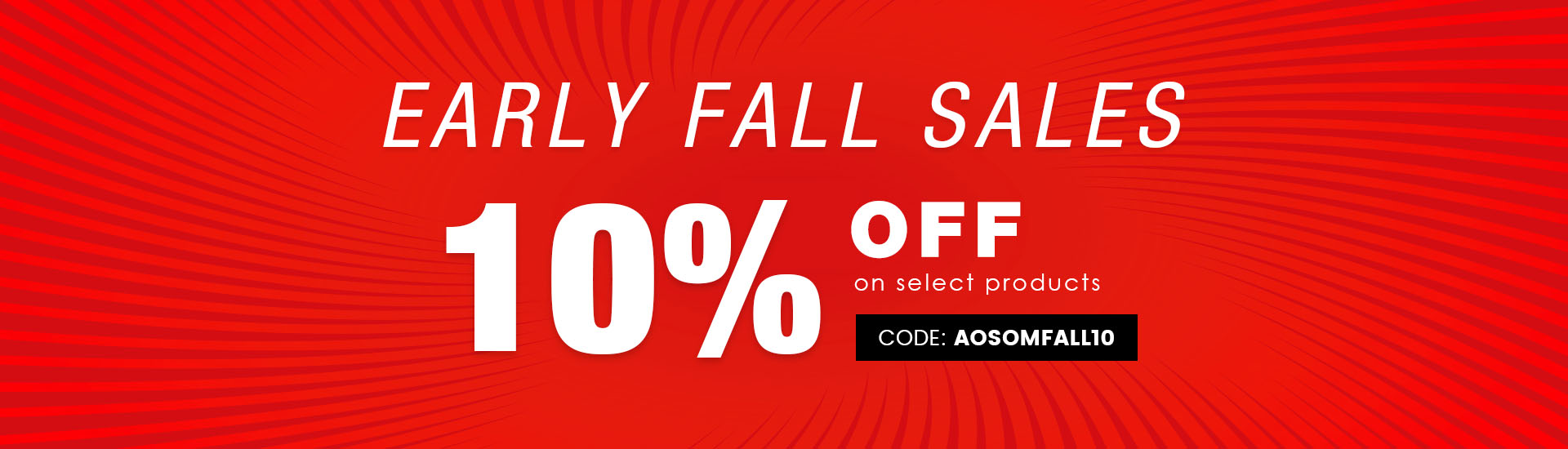 early fall sales