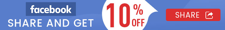 facebook share and get 10% off